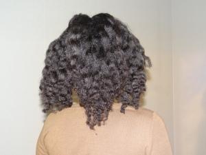 braid-out cheveux étirés