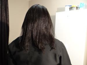 Lissage cheveux crépus naturels (4b/4c)