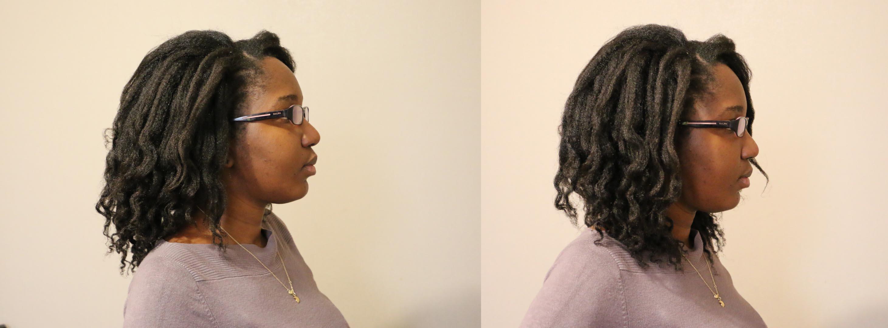 misscamaelle cheveux crépus cheveux étirés mises en plis 2 nattes